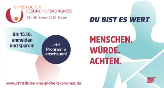 7. Christlicher Gesundheitskongress 2020 in Kassel