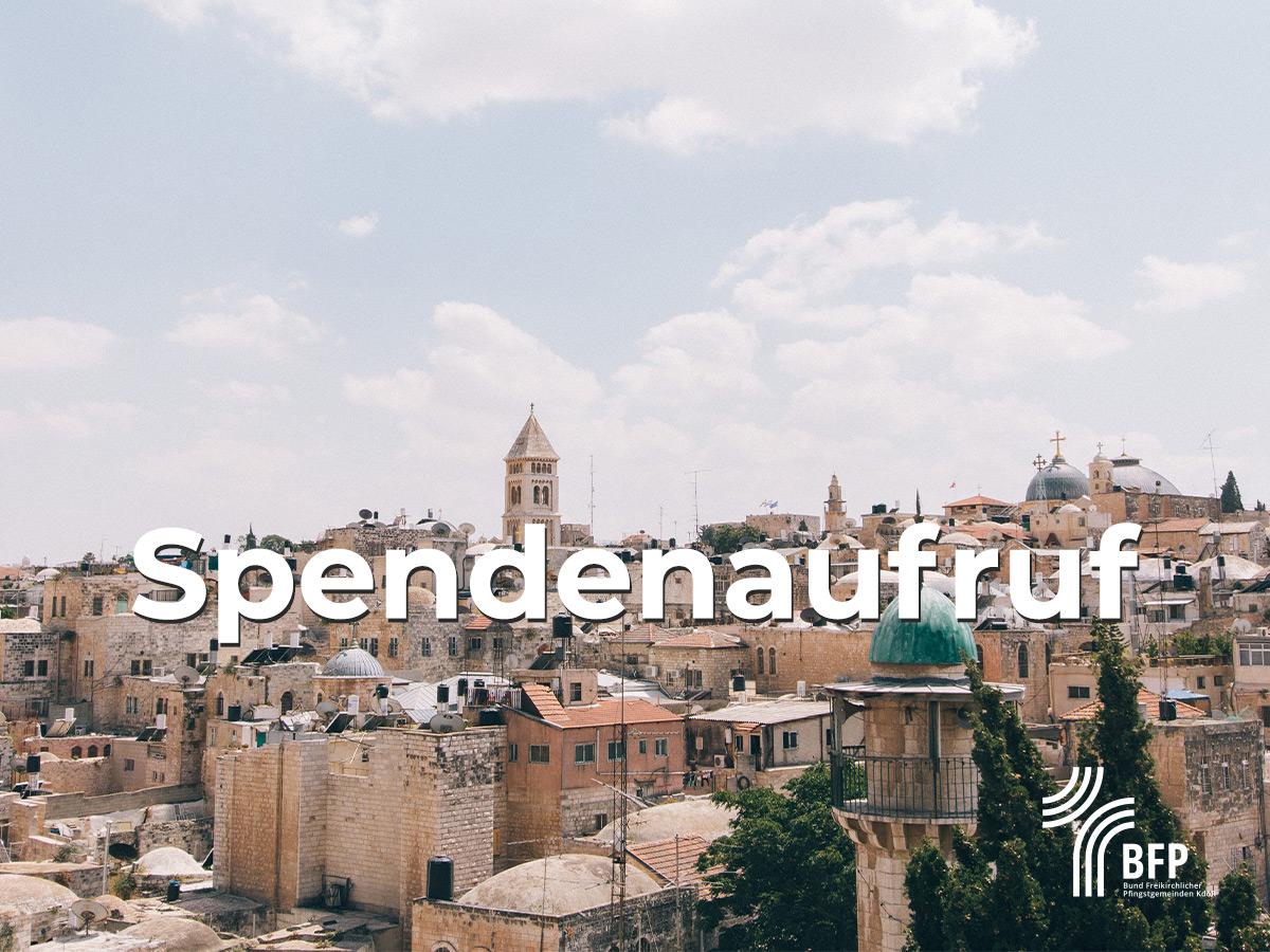 Spendenaufruf des BFP für Israel
